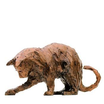 Spelende kat | dieren beeld in brons van Maja van Berkestijn koopt u nu online! ✓Hoogste kwaliteit & service ✓Veilig betalen ✓Gratis verzending
