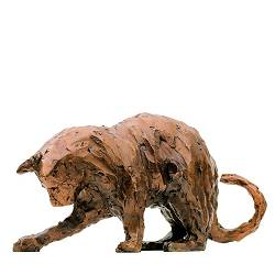 Playing cat | animal sculpture in bronze by Maja van Berkestijn now for sale online! ✓Highest quality & service ✓Safe payment ✓Free shipping