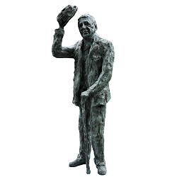 Saluting man | model sculpture in bronze by Maja van Berkestijn now for sale online! ✓Highest quality & service ✓Safe payment ✓Free shipping