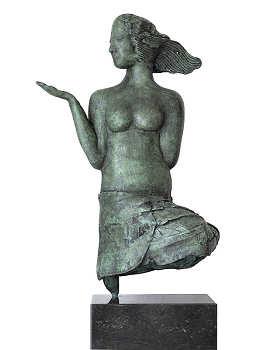 Toekomst | bronzen beeld van een vrouw van Marion Visione koopt u nu online! ✓Hoogste kwaliteit & service ✓Veilig betalen ✓Gratis verzending
