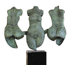 Three graces | model sculpture in bronze by Marion Visione now for sale online! ?Highest quality & service ?Safe payment ?Free shipping