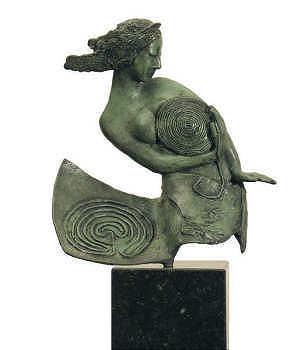 Het labyrinth | bronzen beeld van een vrouw van Marion Visione koopt u nu online! ✓Hoogste kwaliteit ✓Veilig betalen ✓Gratis verzending