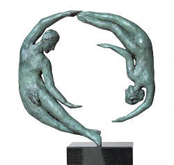 Amore | model sculpture in bronze by Marion Visione now for sale online! ✓Highest quality & service ✓Safe payment ✓Free shipping