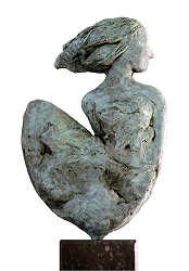 Looking back | model sculpture in bronze by Marion Visione | Exclusive Dutch Master Art | View and buy the best artworks online now