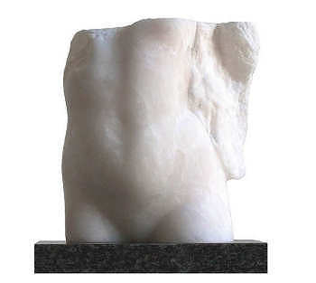 Engelachtig | beeld in albast van een vrouw van Marlies Heylmann koopt u nu online! ✓Hoogste kwaliteit ✓Veilig betalen ✓Gratis verzending