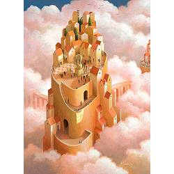Waiting for the future | landscape with architecture painting by Michiel Schrijver now for sale online! ✓Highest quality ✓Safe payment ✓Free shipping