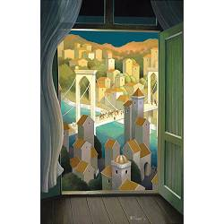 Summer evening breeze | landscape with architecture painting by Michiel Schrijver now for sale online! ✓Highest quality ✓Safe payment ✓Free shipping