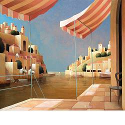 The seas of the south | landscape with architecture painting by Michiel Schrijver now for sale online! ✓Highest quality ✓Safe payment ✓Free shipping