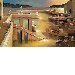 A joyful day | landscape with architecture painting by Michiel Schrijver now for sale online! ✓Highest quality & service ✓Safe payment ✓Free shipping