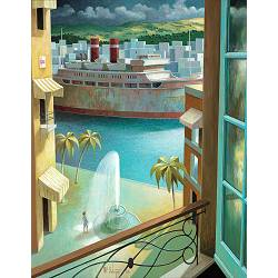Window of patience | landscape with architecture painting by Michiel Schrijver now for sale online! ✓Highest quality ✓Safe payment ✓Free shipping
