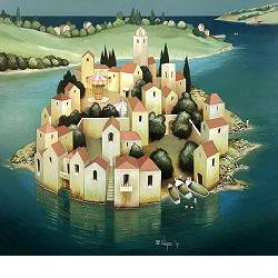 The poet's house | landscape with architecture painting by Michiel Schrijver now for sale online! ✓Highest quality & service ✓Safe payment ✓Free shipping