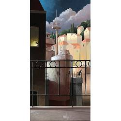 First watch | landscape with architecture painting by Michiel Schrijver now for sale online! ✓Highest quality & service ✓Safe payment ✓Free shipping
