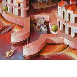 The tidings | painting of a landscape in acrylic by Michiel Schrijver now for sale online! ✓Highest quality ✓Safe payment ✓Free shipping