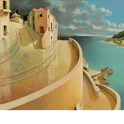 After the rain | landscape painting in acrylic by Michiel Schrijver now for sale online! ✓Highest quality & service ✓Safe payment ✓Free shipping