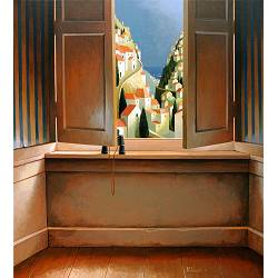 Late departure | landscape painting in acrylic by Michiel Schrijver now for sale online! ✓Highest quality & service ✓Safe payment ✓Free shipping