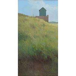 Dijkdoorgang | landschap schilderij in acrylverf van Peter Durieux koopt u nu online!Hoogste kwaliteit & serviceVeilig betalenGratis verzending