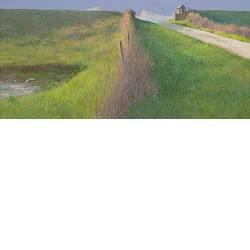 Laat in de middag | landschap schilderij in acrylverf van Peter Durieux koopt u nu online!Hoogste kwaliteitVeilig betalenGratis verzending