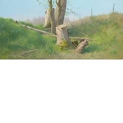 Helwerd | landschap schilderij in acrylverf van Peter Durieux koopt u nu online!Hoogste kwaliteit & serviceVeilig betalenGratis verzending