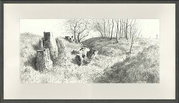 Pointe de Vue | landschap schilderij in acryl van Peter Durieux | Exclusieve kunst online te koop in de webshop van Galerie Wildevuur