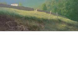 Bij Geys | landschap schilderij in acrylverf van Peter Durieux koopt u nu online!Hoogste kwaliteit & serviceVeilig betalenGratis verzending