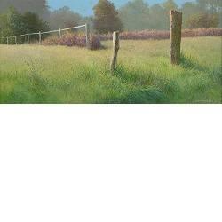 Het pad | schilderij van een landschap in acrylverf van Peter Durieux | Exclusieve kunst online te koop in de webshop van Galerie Wildevuur