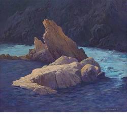 In de Eyrieux | landschap schilderij in acrylverf van Peter Durieux koopt u nu online!Hoogste kwaliteit & serviceVeilig betalenGratis verzending