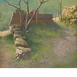 Stapeling | landschap schilderij in acrylverf van Peter Durieux koopt u nu online!Hoogste kwaliteit & serviceVeilig betalenGratis verzending
