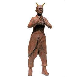 Gevorderde denker II | keramisch beeld van Peter Hiemstra | Exclusieve kunst online te koop in de webshop van Galerie Wildevuur