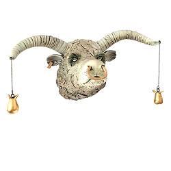Stier met gouden peertjes | keramiek sculptuur van Peter Hiemstra koopt u nu online! ✓Hoogste kwaliteit ✓Veilig betalen ✓Gratis verzending