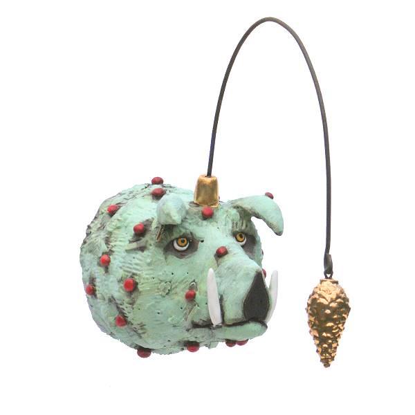 Samarkand gouden wrattenzwijn met gouden dennenappel