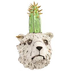 Cactus bear | sculpture in ceramics by Peter Hiemstra now for sale online! ✓Highest quality & service ✓Safe payment ✓Free shipping