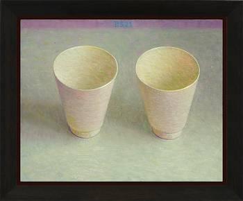 Twee bekertjes | stilleven schilderij in olieverf van Piet Sebens koopt u nu online!Hoogste kwaliteit & serviceVeilig betalenGratis verzending