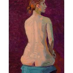 Modelstudie, Rug van A. | model-mensen schilderij in olieverf van Piet Sebens koopt u nu online!Hoogste kwaliteitVeilig betalenGratis verzending