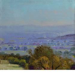 Morvan: La Montagne | landschap schilderij in olieverf van Piet Sebens koopt u nu online!Hoogste kwaliteitVeilig betalenGratis verzending