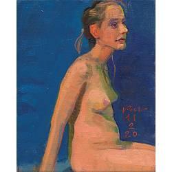 Lizelot | model-mensen schilderij in olieverf van Piet Sebens koopt u nu online!Hoogste kwaliteit & serviceVeilig betalenGratis verzending