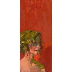 Suzanne, rood | model-mensen schilderij in olieverf van Piet Sebens koopt u nu online!Hoogste kwaliteitVeilig betalenGratis verzending