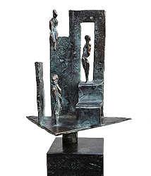 Thuis | bronzen beeld met mensen van Piets Althuis koopt u nu online! ✓Hoogste kwaliteit & service ✓Veilig betalen ✓Gratis verzending