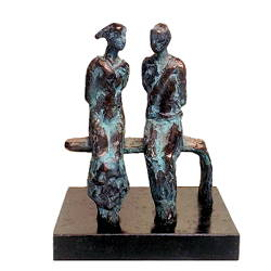 The bench | model sculpture in bronze by Piets Althuis | Exclusive Dutch Master Art | View and buy the best artworks online now