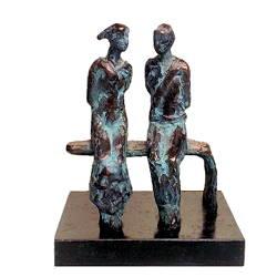 Beeld dat de ultieme liefde symboliseert. Het bankje is een alleszeggend bronzen beeld van Piets Althuis dat u online kunt kopen bij galerie Wildevuur.