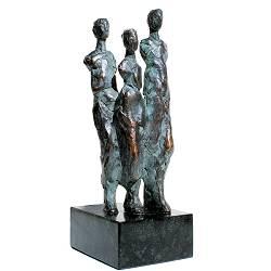 Onderweg | bronzen beeld van een familie van Piets Althuis koopt u nu online! ✓Hoogste kwaliteit ✓Veilig betalen ✓Gratis verzending
