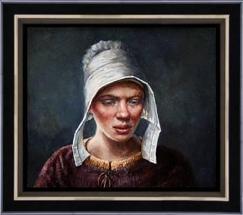 Laat zonlicht | landschap schilderij in olieverf van Rene Jansen koopt u nu online! ✓Hoogste kwaliteit ✓Veilig betalen ✓Gratis verzending