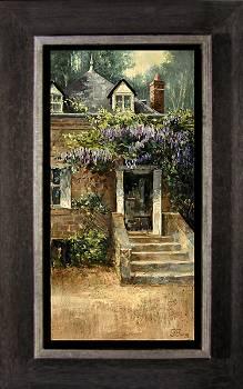 Blauwe regen | landschap schilderij in olieverf van Rene Jansen | Exclusieve kunst online te koop in de webshop van Galerie Wildevuur
