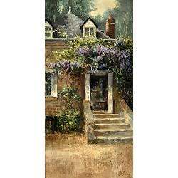 Bij Balloo | landschap schilderij in olieverf van Rene Jansen | Exclusieve kunst online te koop in de webshop van Galerie Wildevuur