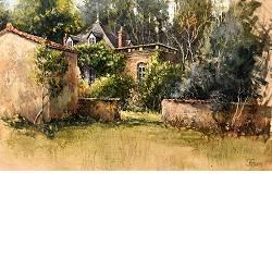 Late middagzon | landschap schilderij in olieverf van Rene Jansen | Exclusieve kunst online te koop in de webshop van Galerie Wildevuur