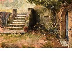 Septemberlicht | landschap schilderij in olieverf van Rene Jansen | Exclusieve kunst online te koop in de webshop van Galerie Wildevuur