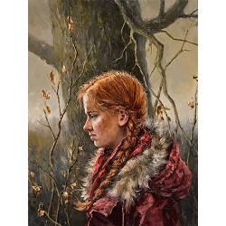 September | model schilderij in olieverf van Rene Jansen | Exclusieve kunst online te koop in de webshop van Galerie Wildevuur