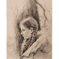 September II | model tekening van Rene Jansen | Exclusieve kunst online te koop in de webshop van Galerie Wildevuur