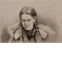 Looking down | model tekening van Rene Jansen | Exclusieve kunst online te koop in de webshop van Galerie Wildevuur