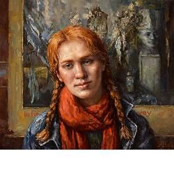 Jessica en Kees (twee muzen) | model schilderij in olieverf van Rene Jansen | Exclusieve kunst online te koop in de webshop van Galerie Wildevuur