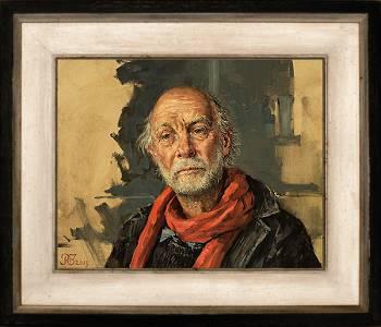 Zelfportret | model schilderij in olieverf van Rene Jansen | Exclusieve kunst online te koop in de webshop van Galerie Wildevuur